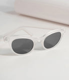 Retro Style Matte Crystal Cat Eye Sunglasses