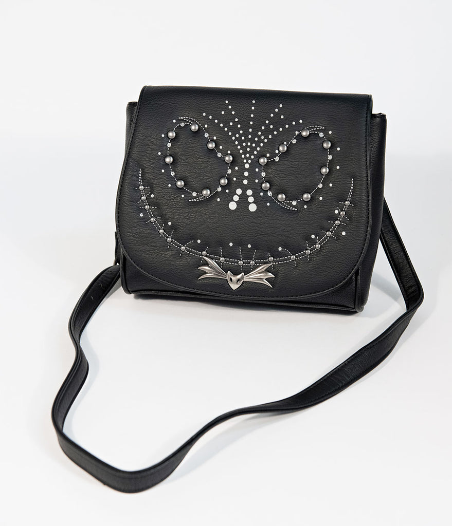Loungefly Black Leatherette Nightmare Before Christmas Studded Crossbody