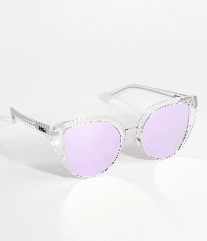 Quay Clear Oh My Dayz Half Frame Cat Eye Sunglasses