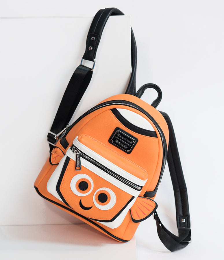 Loungefly Orange Leatherette Finding Nemo Disney Pixar Mini Backpack