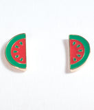 Mini Watermelon Slices Stud Earrings