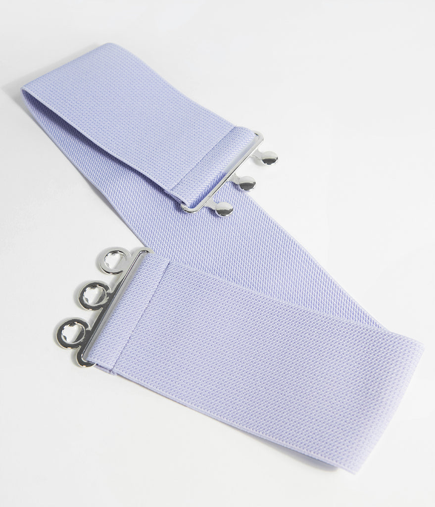 Hell Bunny 1950s Retro Style Lavender Purple Cinch Belt