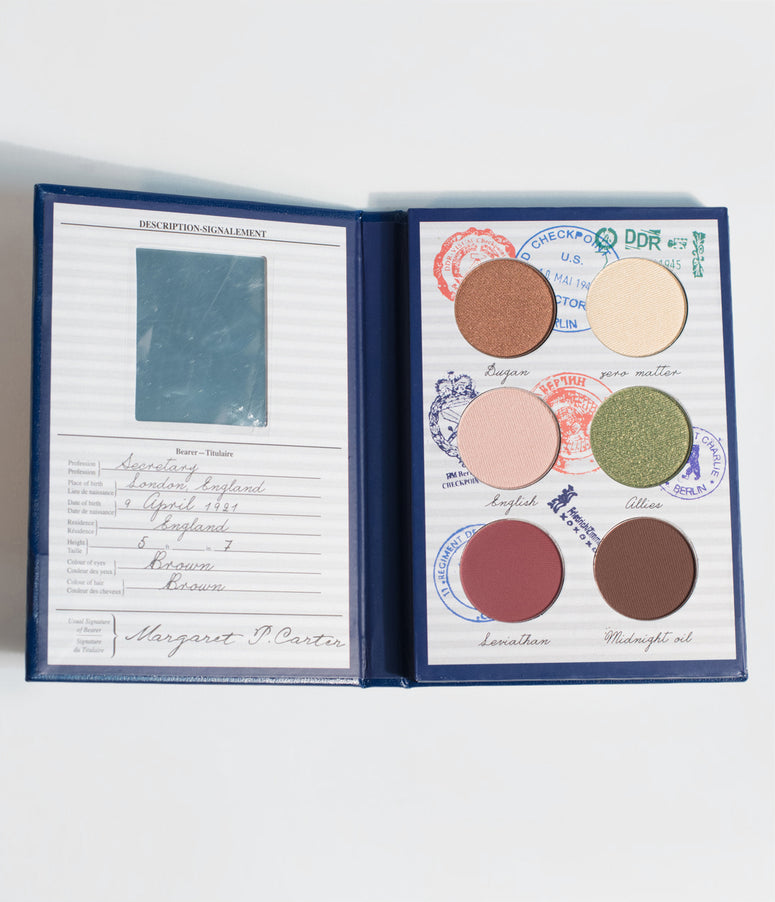 Besame Agent Carter Passport Eye Shadow Palette