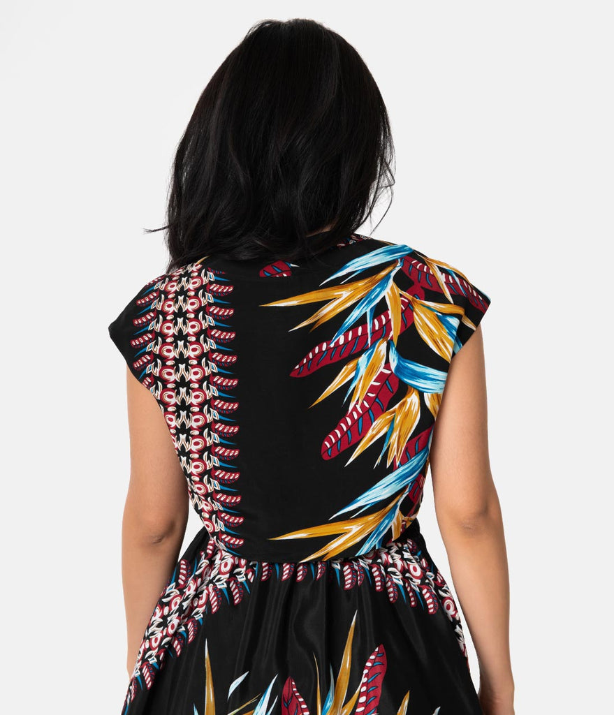 Unique Vintage x Kamehameha Bird Of Paradise Hawaiian Print Ronnie Bolero
