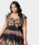 Unique Vintage x Kamehameha Plus Size Bird Of Paradise Hawaiian Print Ronnie Bolero