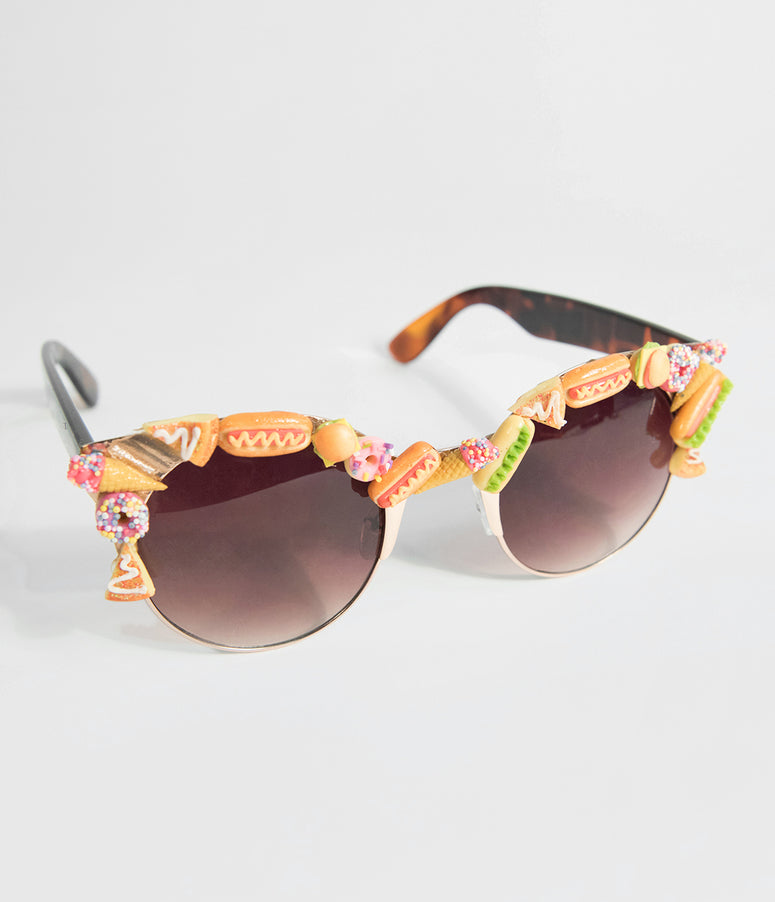 Snack Attack Food Half Frame Sunglasses