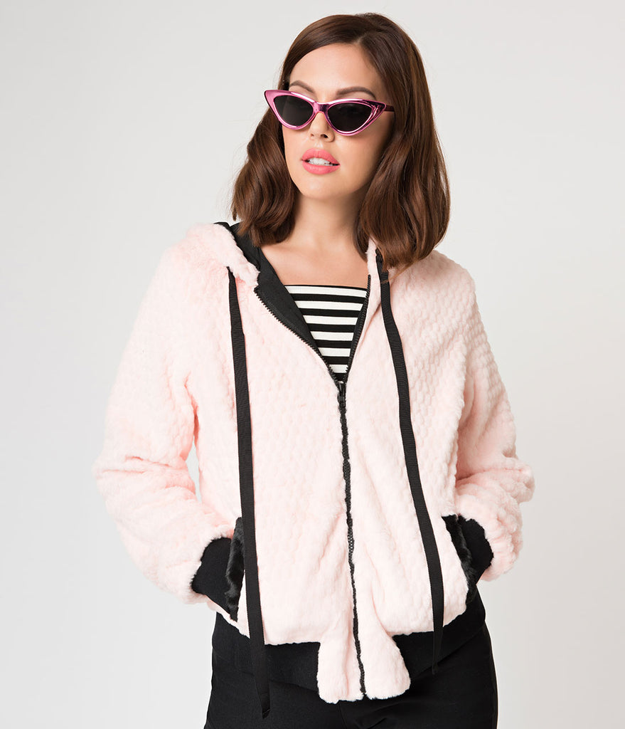 Pink Fur Make Me Purr Hooded Kitty Jacket