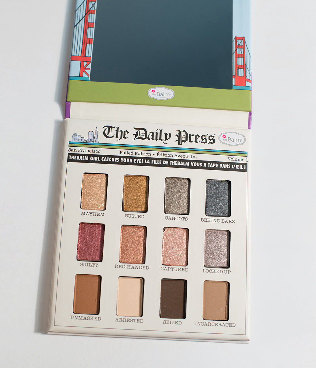 Authentic 1940s Makeup History and Tutorial Thebalm Foiled Again Foil Eyeshadow Palette Set $34.00 AT vintagedancer.com