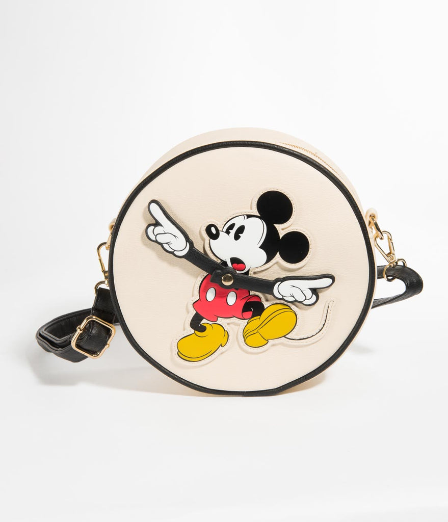 Loungefly Mickey Mouse Clock Arms Round Disney Crossbody Purse
