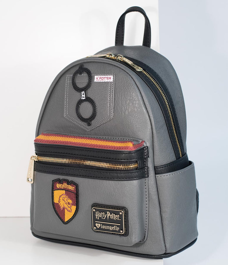 Loungefly Grey Leatherette Harry Potter Mini Backpack