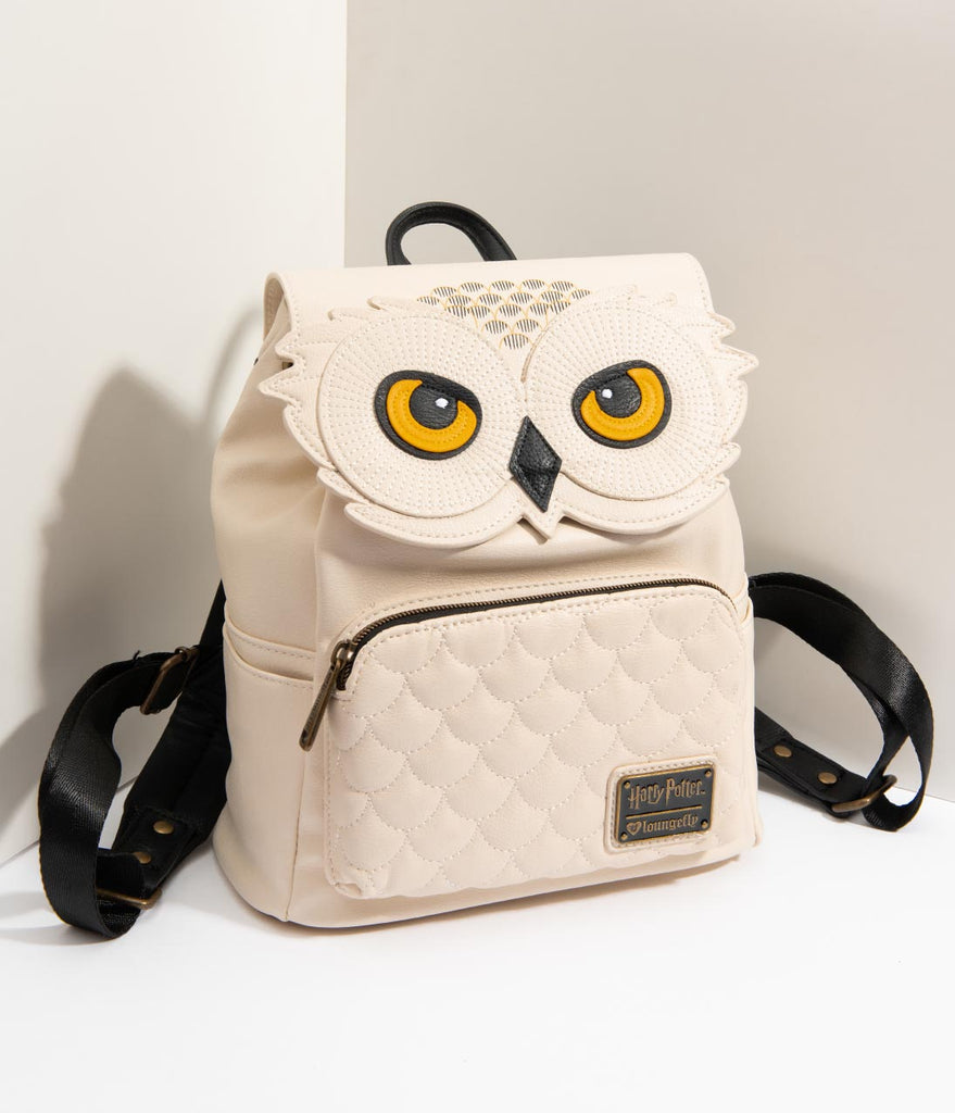 Loungefly Ivory Leatherette Hedwig Owl Harry Potter Mini Backpack