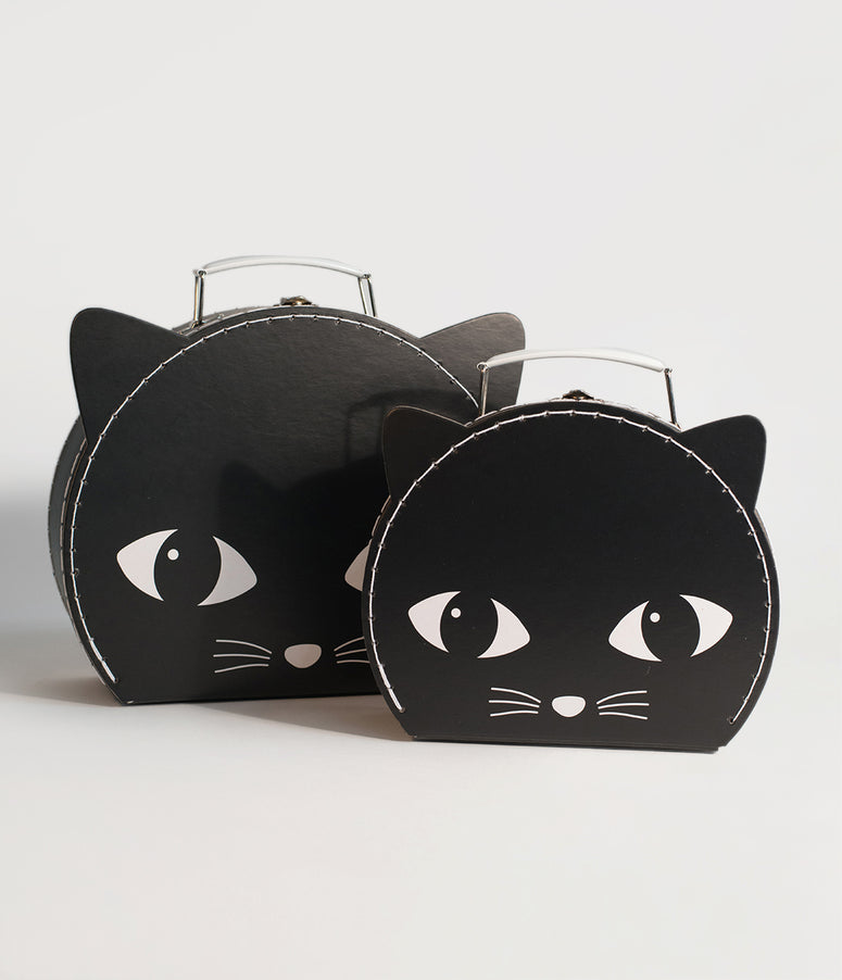 Black Cat Paper Suitcase Set