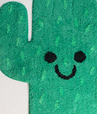 Green Happy Cactus Cotton Rug