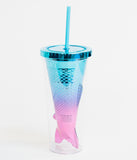 Iridescent Mermaid Tail Tumbler Cup