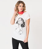 Ivory Cotton Creature Pin-Up Beauty Unisex Tee