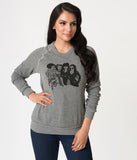Heather Grey Ghoul Gang Long Sleeve Unisex Sweater