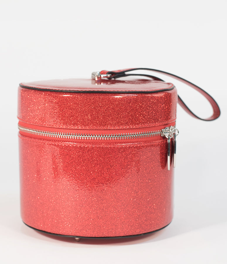 Lux De Ville Red Venom Sparkle Mini Taylor Hat Box