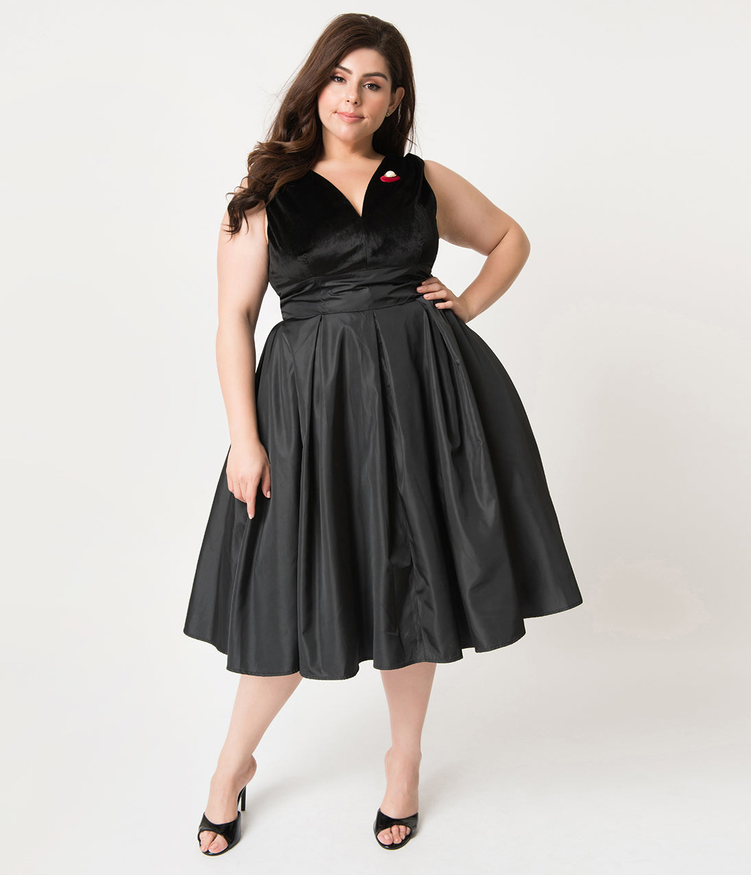 Plus Size Pin Up Dresses Rockabilly Unique Vintage 1950s Style: Plus Size Black Rockabilly Wedding Dresses At Reisefeber.org