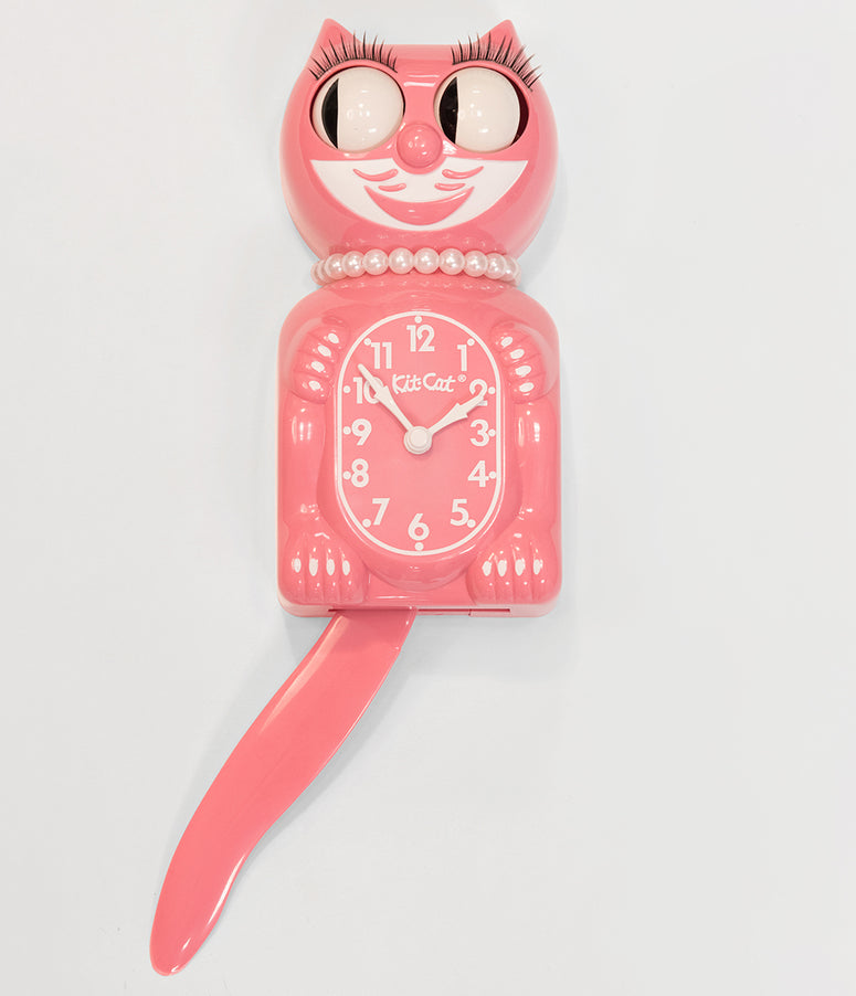 Strawberry Ice Pink Limited Edition Lady Kit-Cat Klock