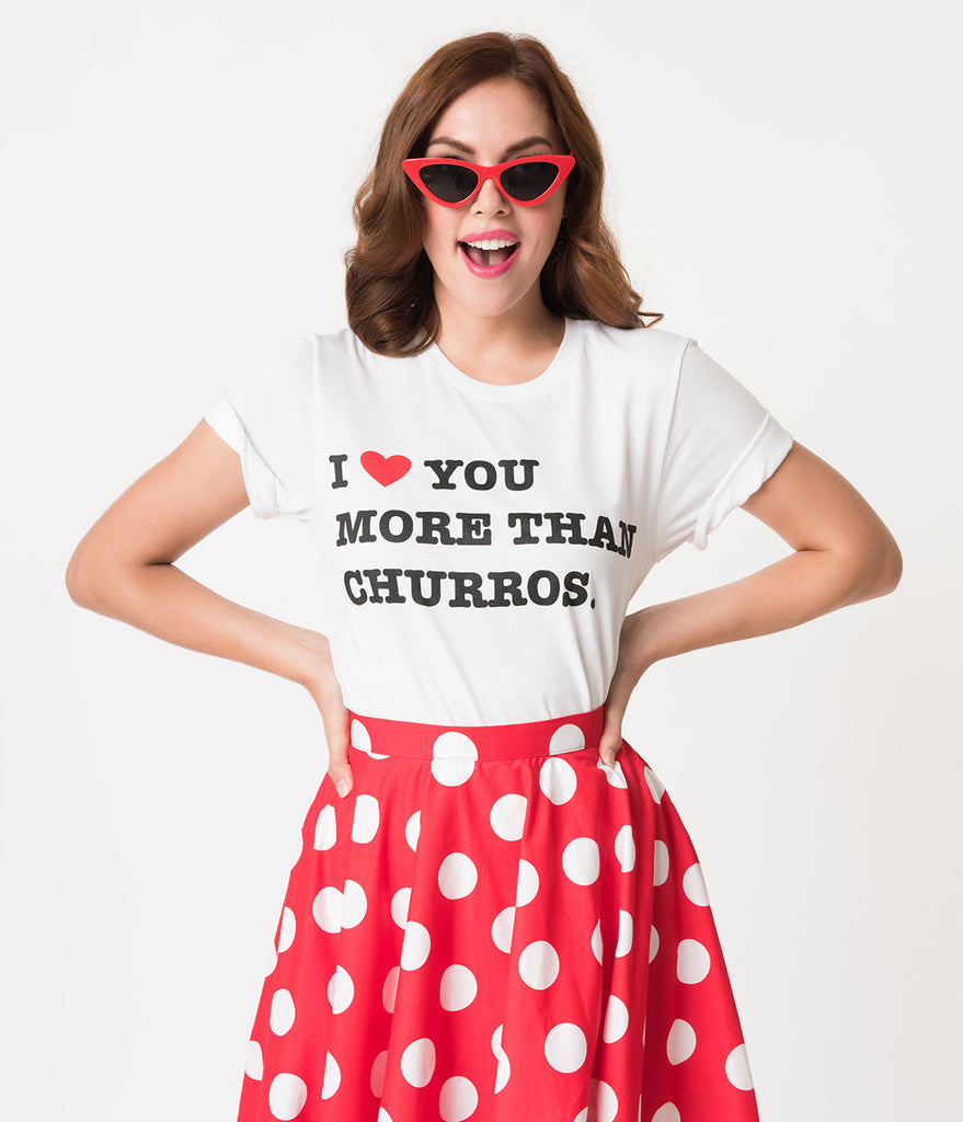 Happiest Tees on Earth I Love You More Than Churros Unisex Tee