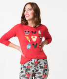 Red Cotton Disney Treats Pullover Sweater