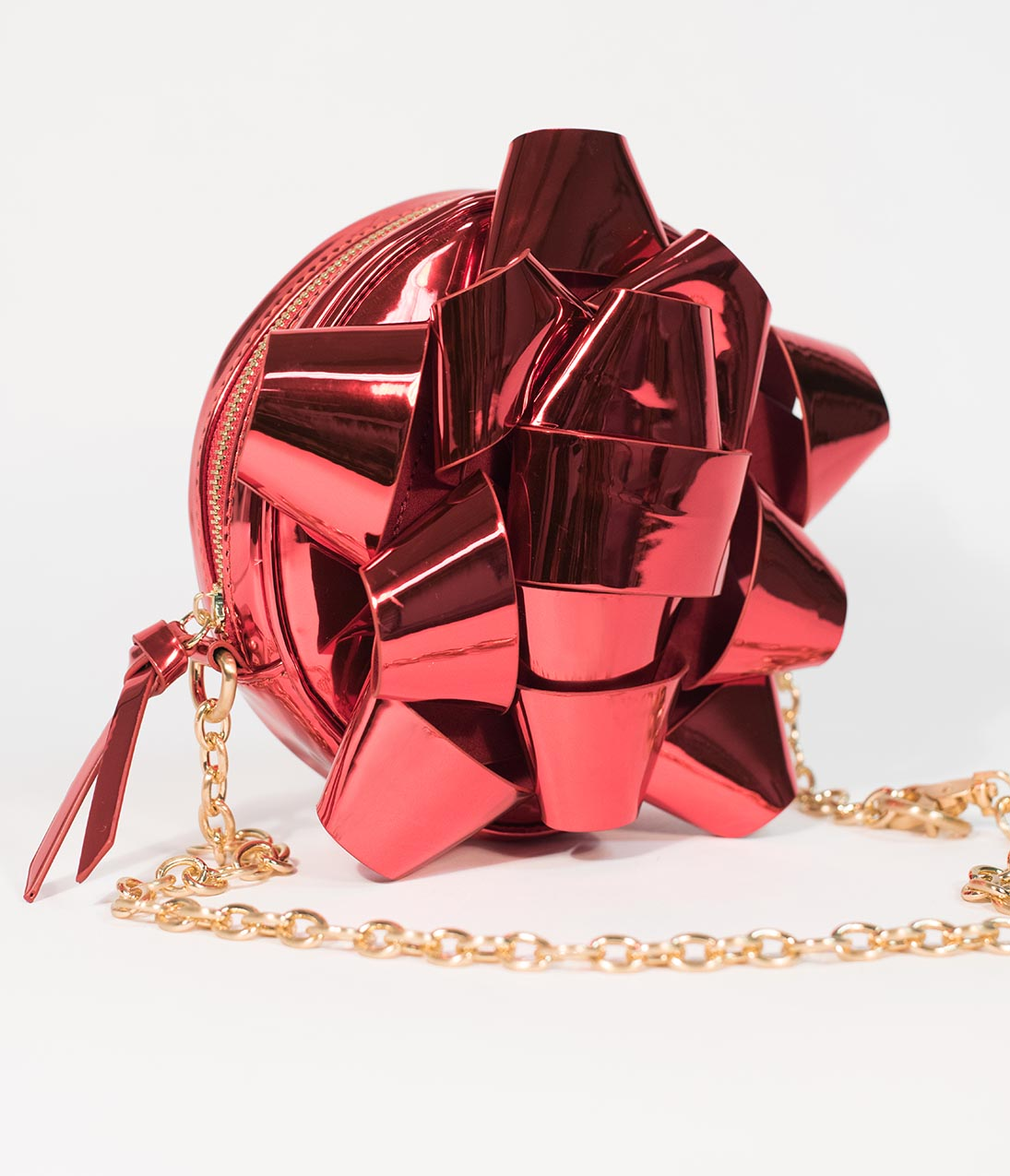 Vintage Christmas Dress | Party Dresses | Night Out Outfits Betsey Johnson Metallic Red Wrap Me Up Crossbody Purse $78.00 AT vintagedancer.com