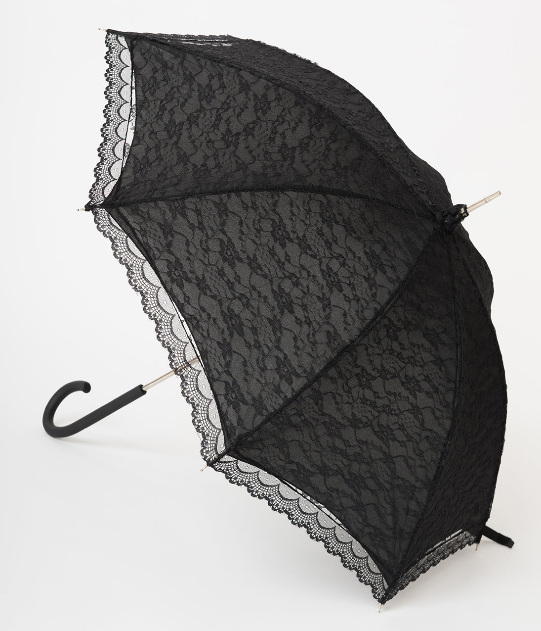 Vintage Style Parasols and Umbrellas Victorian Style Black Lace Umbrella $38.00 AT vintagedancer.com