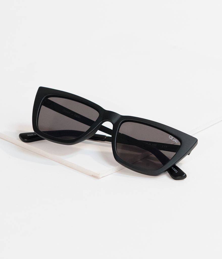 Quay Matte Black Dont @ Me Cat Eye Sunglasses