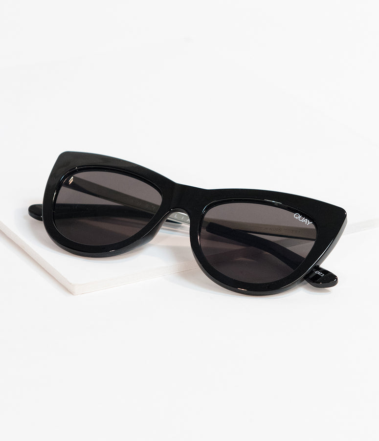 Quay Black Steal A Kiss Cat Eye Sunglasses