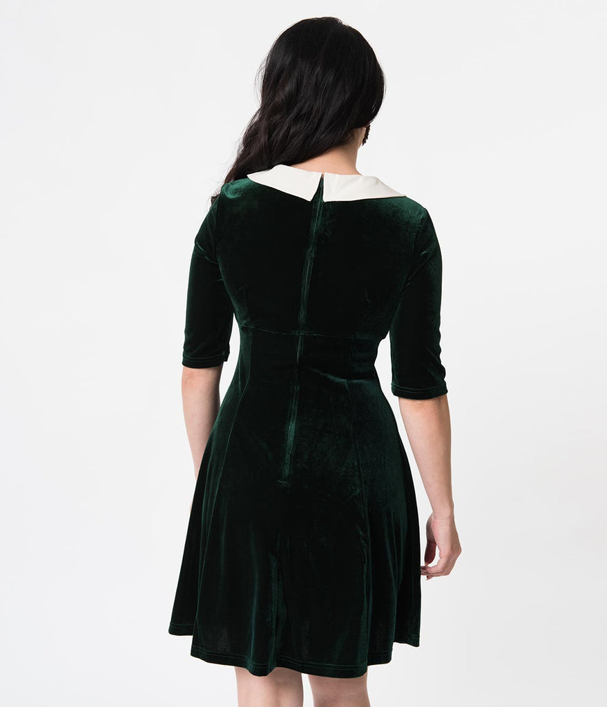 Hell Bunny Velvet Baubles Nicola Flare Holiday Dress
