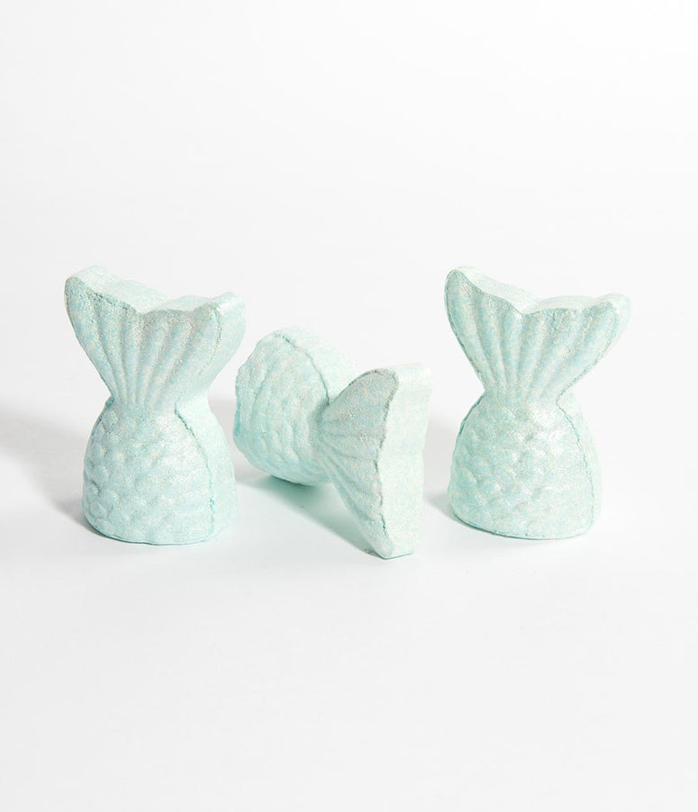 Aqua Blue Mermaid Bath Bomb Set