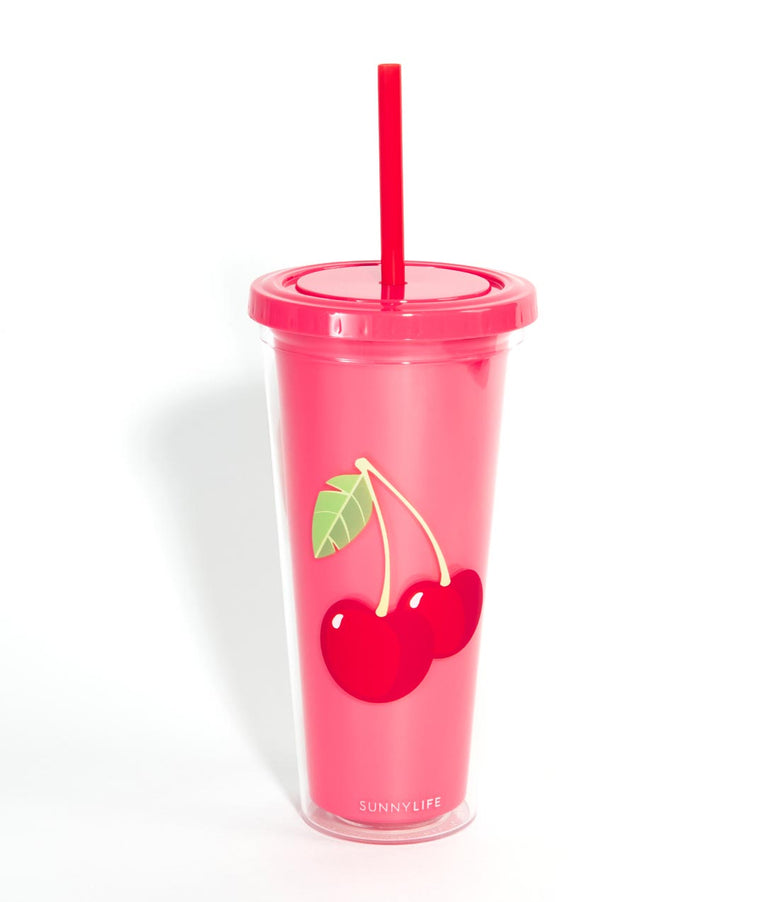 Pink Cherry Insulated Tumbler Cup