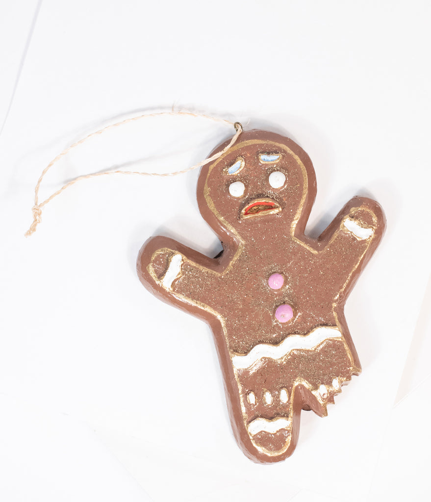Bitten Gingerbread Man Ornament