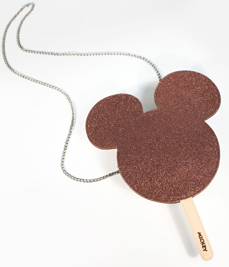 Cakeworthy Chocolate Sparkle Mickey Mouse Ice Cream Bar Disney Crossbody Purse