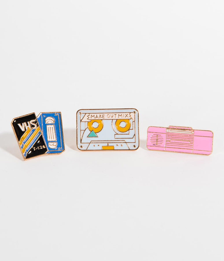 Old School Enamel Pin Set