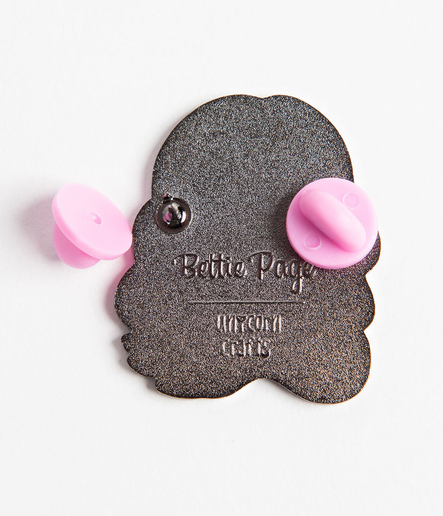 Bettie Page Cutie Face Enamel Pin