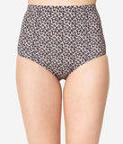 Kingdom & State Leopard Print High Waist Bombshell Swim Bottom