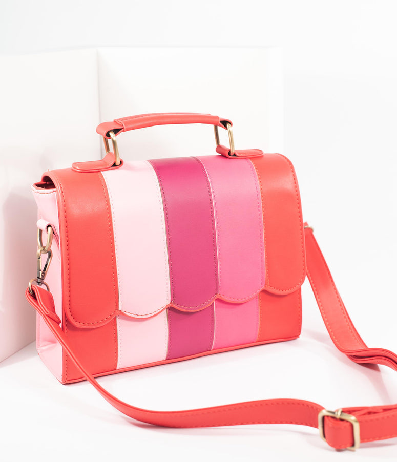 Lola Ramona Pink & Red Stripe Stella Wonder Handbag