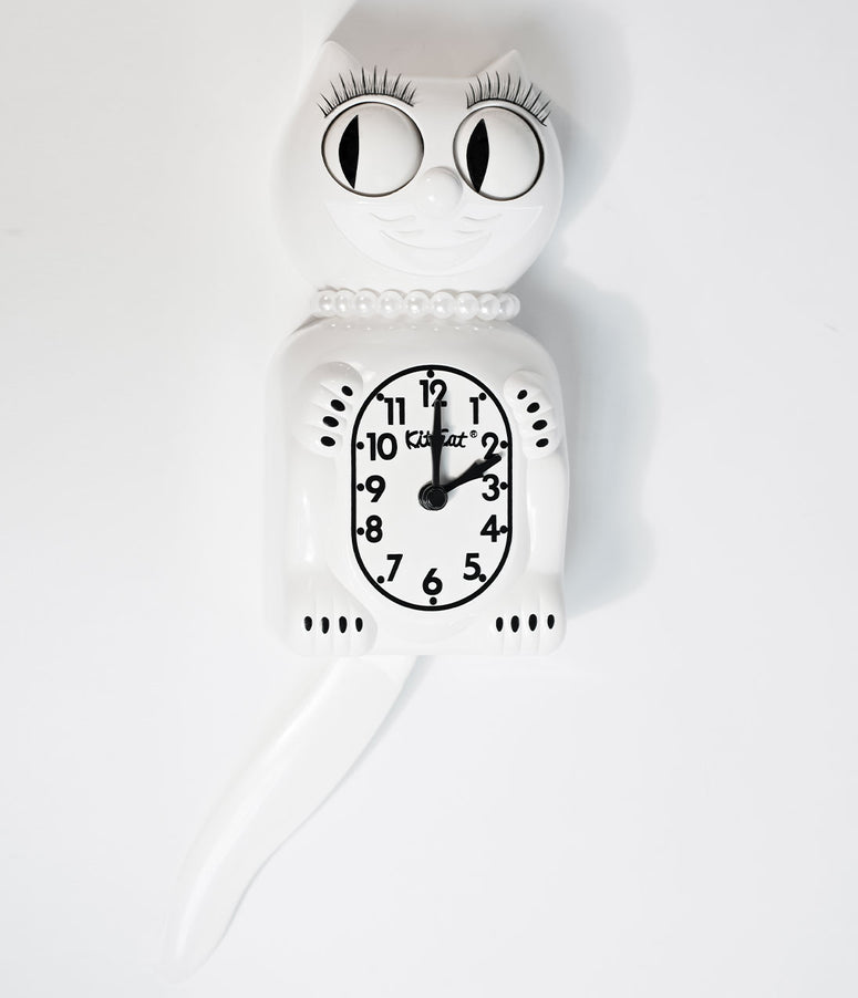White Limited Edition Lady Kit-Cat Klock
