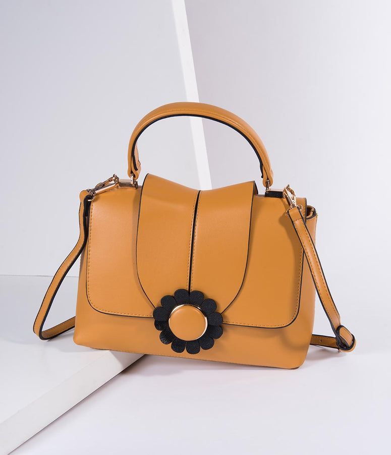 Banned Mustard Yellow Leatherette Bellis Handbag