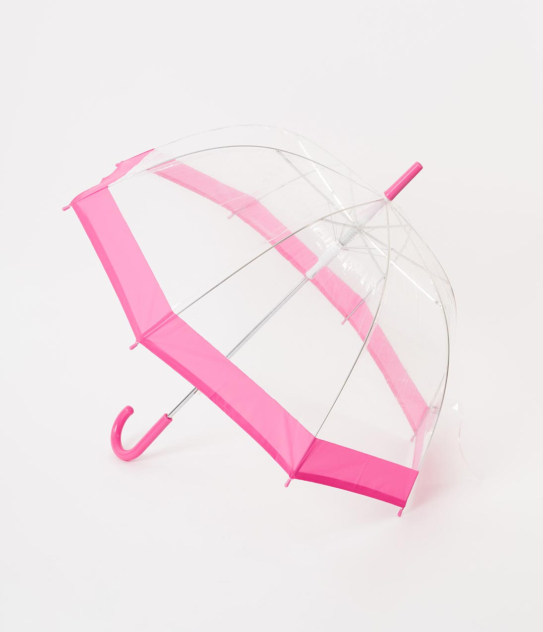 Vintage Style Parasols and Umbrellas Pink  Clear Dome Umbrella $32.00 AT vintagedancer.com