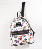 Loungefly Ivory Leatherette Rainbow Mickey Mouse Mini Backpack