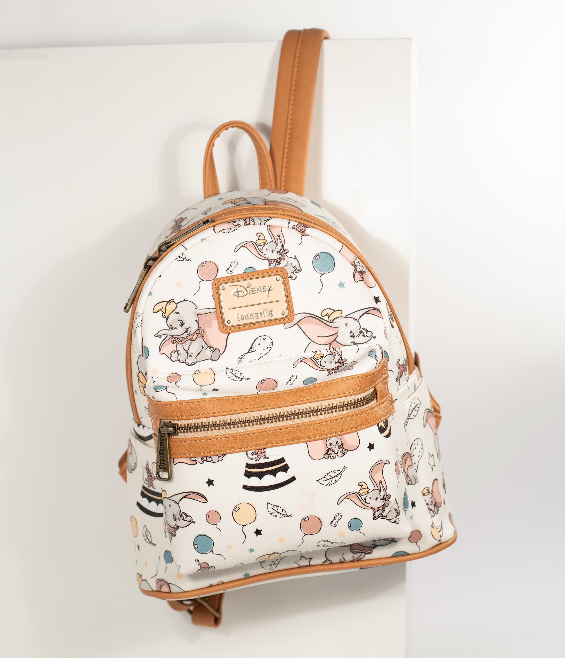c903b68b9592c Loungefly Ivory Leatherette Dumbo Print Disney Mini Backpack