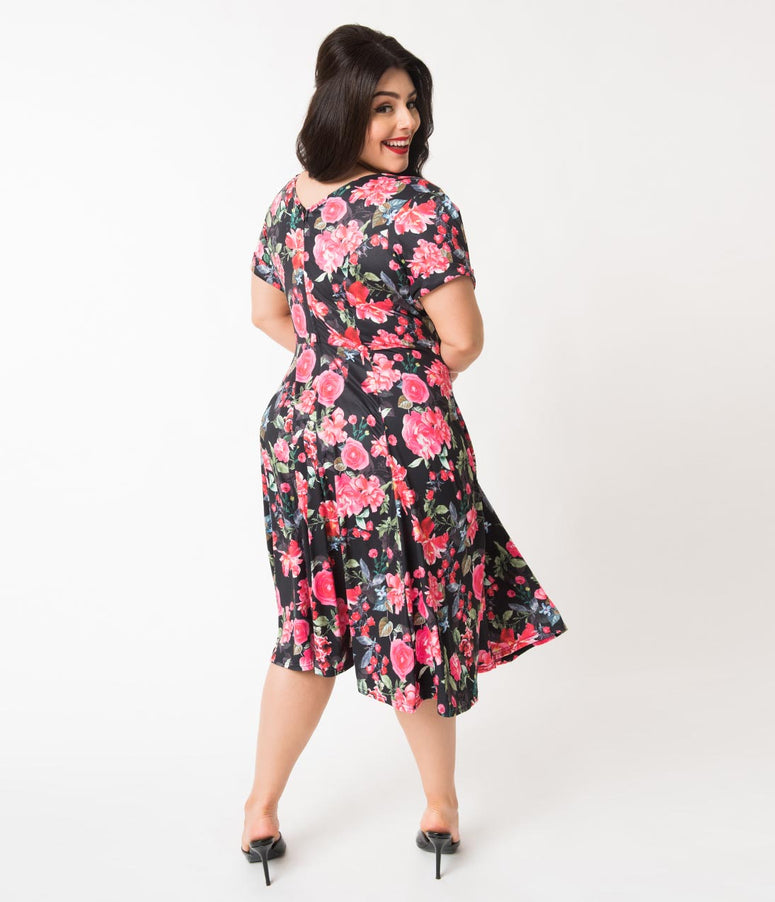 557c7b677cf1 Plus Size Vintage Pin Up Clothing   Dresses – Unique Vintage