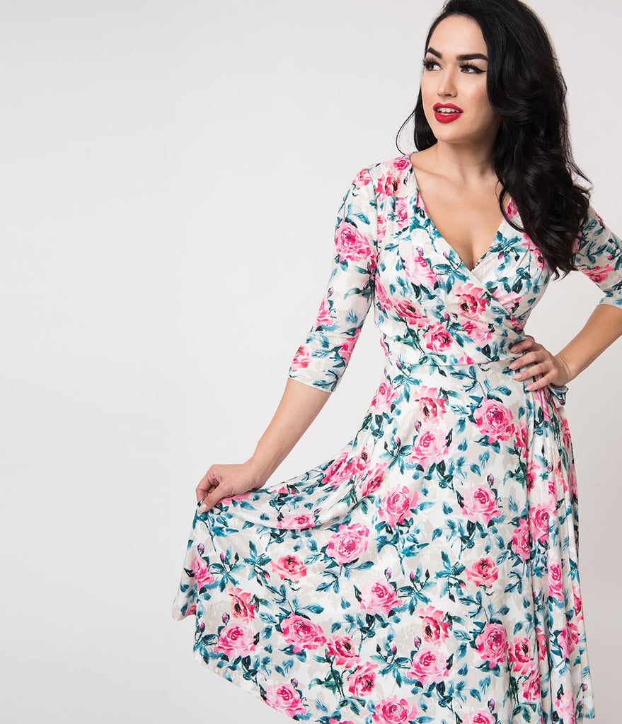 e679051ef207 Right By Your Side Blush Pink Floral Print Wrap Midi Skirt – DACC
