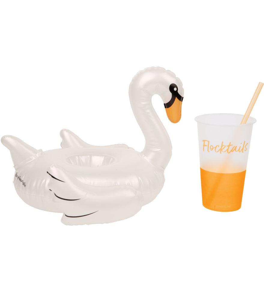 Pink & White Flamingo Inflatable Drink Holders