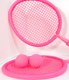 Hot Pink Foam Paddle & Ball Set