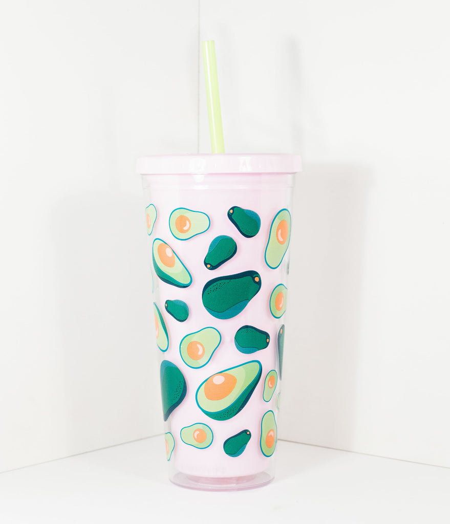 Pink Avocado Insulated Tumbler Cup