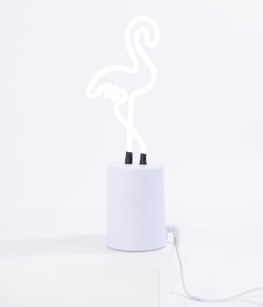 Pink Flamingo Neon Table Light