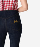 Barbie x Unique Vintage Dark Blue Denim Picnic Capri Pants